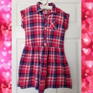 Cat & Jack plaid dress size M 7/8